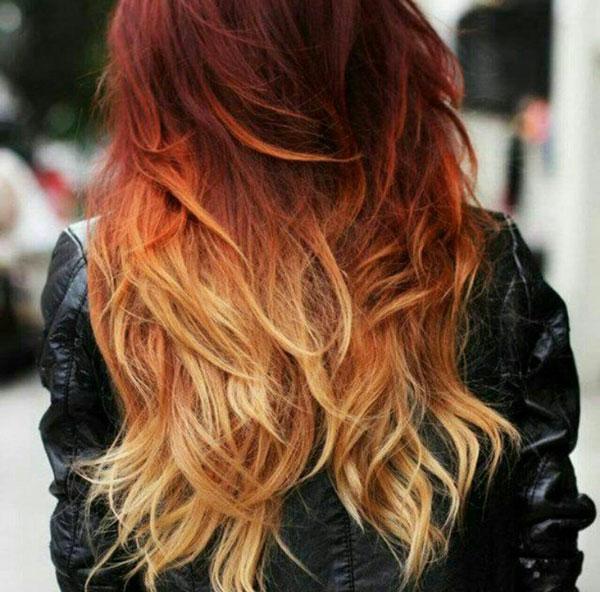 ترکیب رنگ مو به روش آمبره