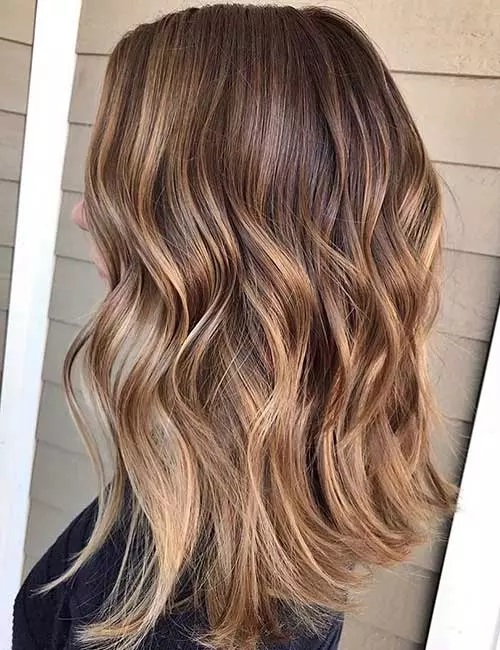10-رنگ مو بالیاژ قهوه ای تیره به قهوه ای روشن