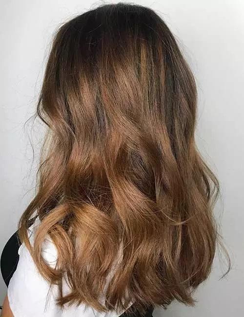 11-رنگ مو بالیاژ قهوه ای روشن متراکم