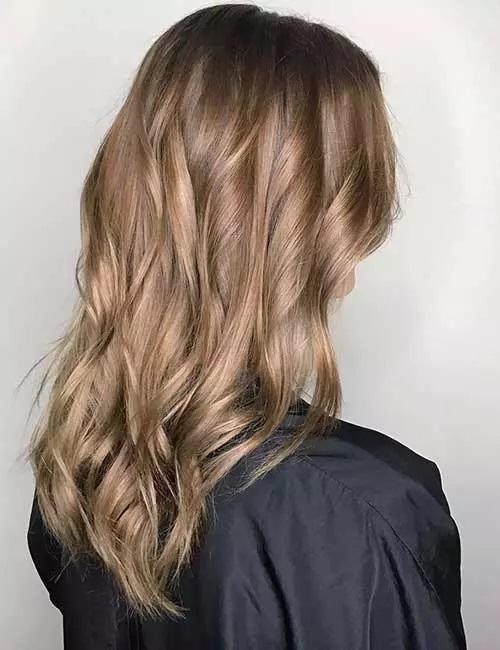 17-رنگ موی قهوه ای روشن پاییزی