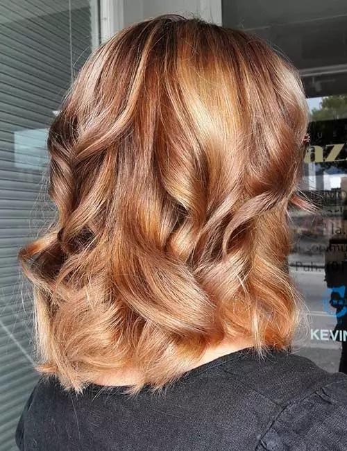 19-موی قهوه ای مایل به قرمز روشن