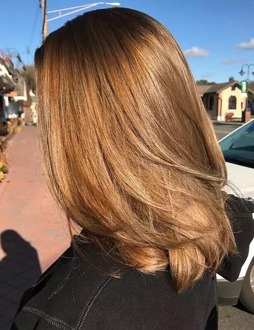 3-رنگ موی قهوه ای طلایی روشن
