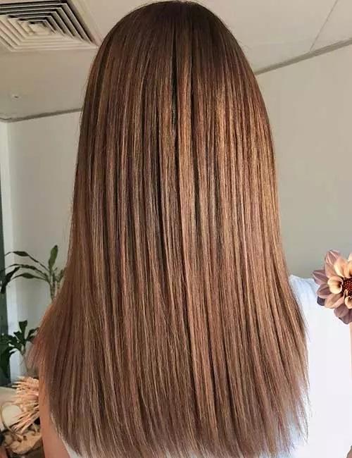 6-رنگ مو ی هایلایت قهوه ای روشن متراکم