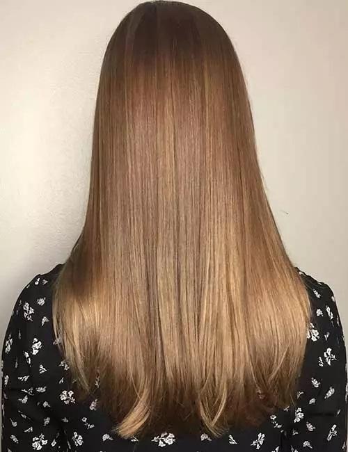 7-رنگ مو بالیاژ قهوه ای کمرنگ نرم