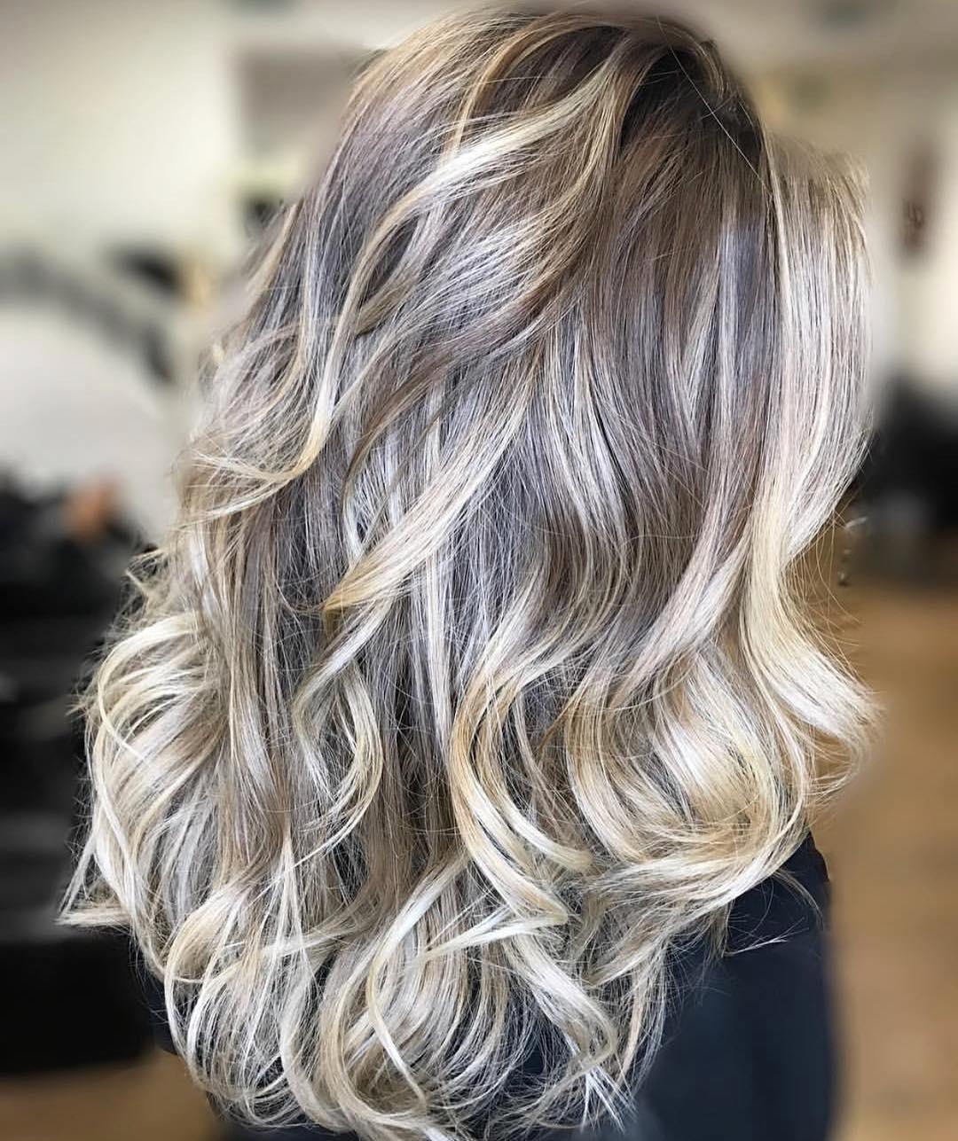 بالیاژ موی بلند ، متد بلیاژ هایلایت ، آموزش رنگ مو